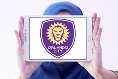 Logo di Orlando City Soccer Club fotografie stock libere da diritti