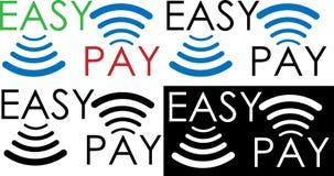 Logo di pagamento facile dell'iscrizione dell'estratto di Minimalistic Fotografia Stock