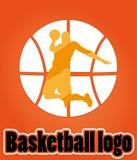 Logo di pallacanestro Fotografie Stock Libere da Diritti