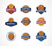 Logo di pallacanestro, emblema, collezioni delle icone, modelli di vettore illustrazione vettoriale