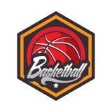 Logo di pallacanestro, logo americano illustrazione vettoriale