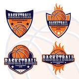 Logo di pallacanestro, logo dell'America illustrazione di stock