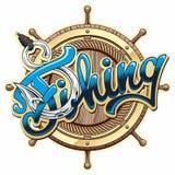 Logo di pesca Immagine Stock