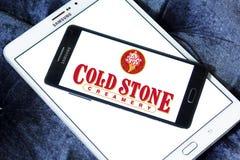 Logo di pietra freddo del ristorante di latteria Immagini Stock Libere da Diritti