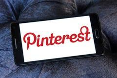 Logo di Pinterest fotografia stock