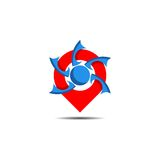 Logo di posizione di Pin Fotografie Stock