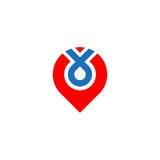 Logo di posizione di Pin Immagini Stock