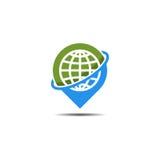 Logo di posizione di Pin Fotografia Stock