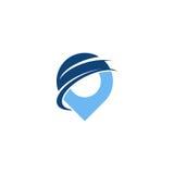 Logo di posizione di Pin Immagine Stock Libera da Diritti