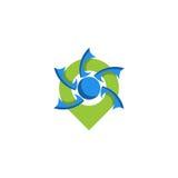 Logo di posizione di Pin Immagini Stock Libere da Diritti