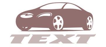 Logo di progettazione dell'automobile Fotografie Stock