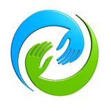 Logo di progettazione di affare delle mani Immagini Stock Libere da Diritti
