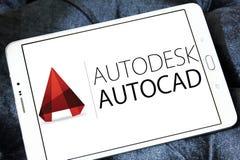 Logo di programma di AutoCAD Immagine Stock