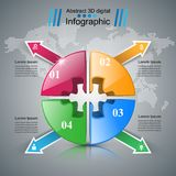Logo di puzzle Commercio Infographics Fotografie Stock