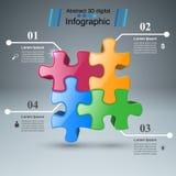 Logo di puzzle Commercio Infographics Fotografia Stock