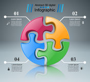 Logo di puzzle Commercio Infographics Fotografie Stock Libere da Diritti