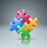 Logo di puzzle Commercio Infographics Immagini Stock