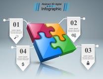 Logo di puzzle Commercio Infographics Immagine Stock