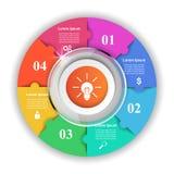 Logo di puzzle Commercio Infographics Fotografia Stock Libera da Diritti