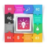 Logo di puzzle Commercio Infographics Immagine Stock Libera da Diritti