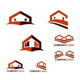 Logo di Real Estate e della costruzione Fotografie Stock
