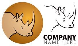 Logo di rinoceronte Fotografie Stock Libere da Diritti