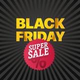 Logo di rosso di vendita di Black Friday Vendita eccellente di novembre Fotografia Stock