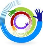 Logo di rotazione della mano Fotografie Stock