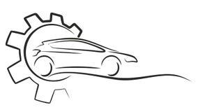 Logo di servizio dell'automobile Fotografia Stock