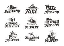 Logo di servizio di distribuzione precisa icona o simbolo di vettore royalty illustrazione gratis