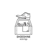 Logo di servizio di lucidatura delle scarpe Immagine Stock