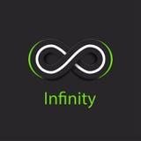 Logo di simbolo di infinito Illustrazione di vettore Fotografia Stock Libera da Diritti