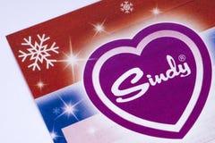Logo di Sindy in un catalogo Fotografia Stock