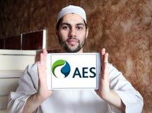 Logo di società di energia di AES Fotografia Stock Libera da Diritti