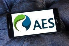 Logo di società di energia di AES Immagine Stock