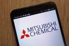 Logo di società di Mitsubishi Chemical Holdings visualizzato su uno smartphone moderno fotografia stock