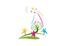 Logo di sogno, un simbolo della durata dell'immaginazione, speranze il successo dei concetti di progetto futuri Immagine Stock Libera da Diritti