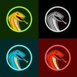 Logo di sport del serpente e della cobra illustrazione vettoriale