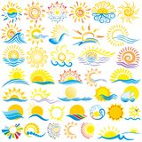 Logo di Sun Fotografie Stock