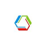 Logo di tecnologia colorato cerchio Fotografia Stock