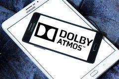 Logo di tecnologia del suono di atmosfera di Dolby Immagine Stock Libera da Diritti