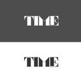 Logo di tempo composto delle lettere Illustrazione Vettoriale