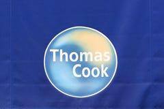 Logo di Thomas Cook su una parete Immagine Stock Libera da Diritti