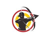 Logo di tiro con l'arco Immagini Stock