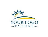 Logo di tramonto Immagini Stock Libere da Diritti