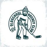 Logo di un club dilettante dell'hockey illustrazione vettoriale