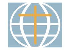 Logo di una chiesa cristiana, il pianeta Fotografie Stock