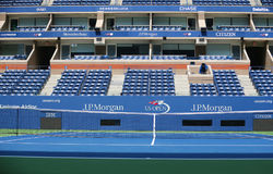 Logo di US Open ad Arthur Ashe Stadium Fotografie Stock Libere da Diritti
