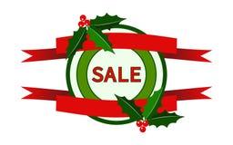 Logo di vendita di Natale Immagine Stock Libera da Diritti