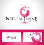 Logo di vetro di vino illustrazione di stock